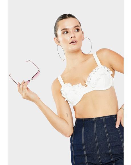 White Rowan Bikini Top