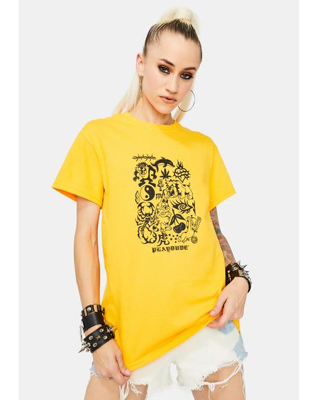 Gold Henna Graphic Tee