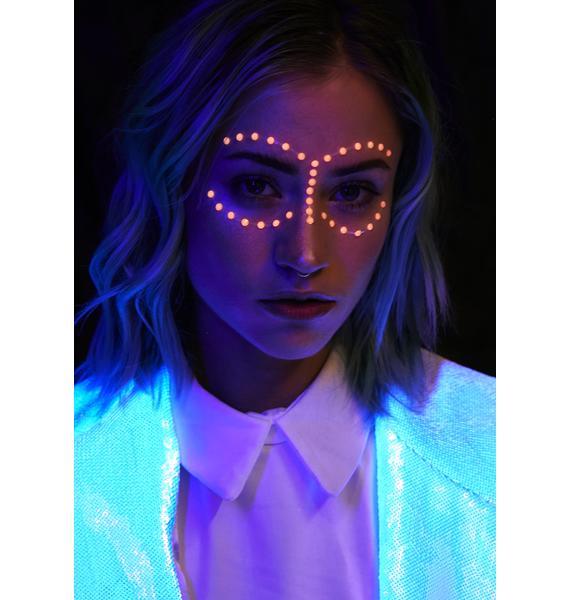 Mystic Glow In The Dark Face Gems
