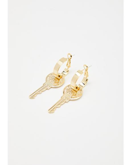 Latchkey Lover Drop Earrings