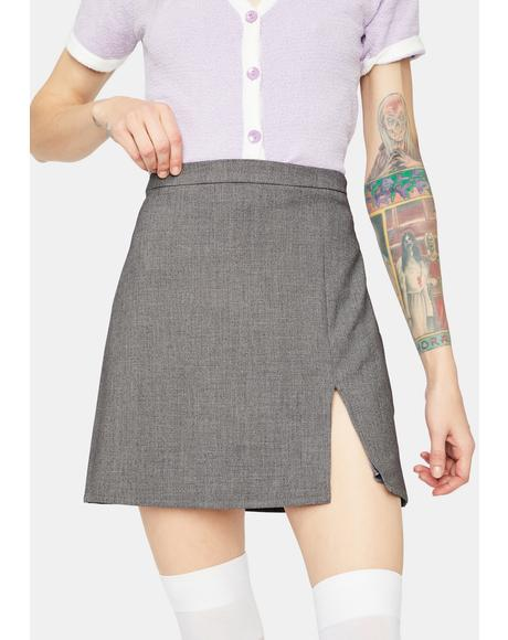 Hey Hey Babay Side Slit Mini Skirt
