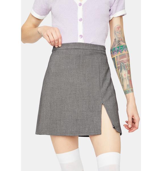 Hey Hey Babay Side Slit Mini Skirt
