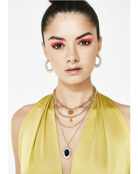 High Rolla Embellished Hoops