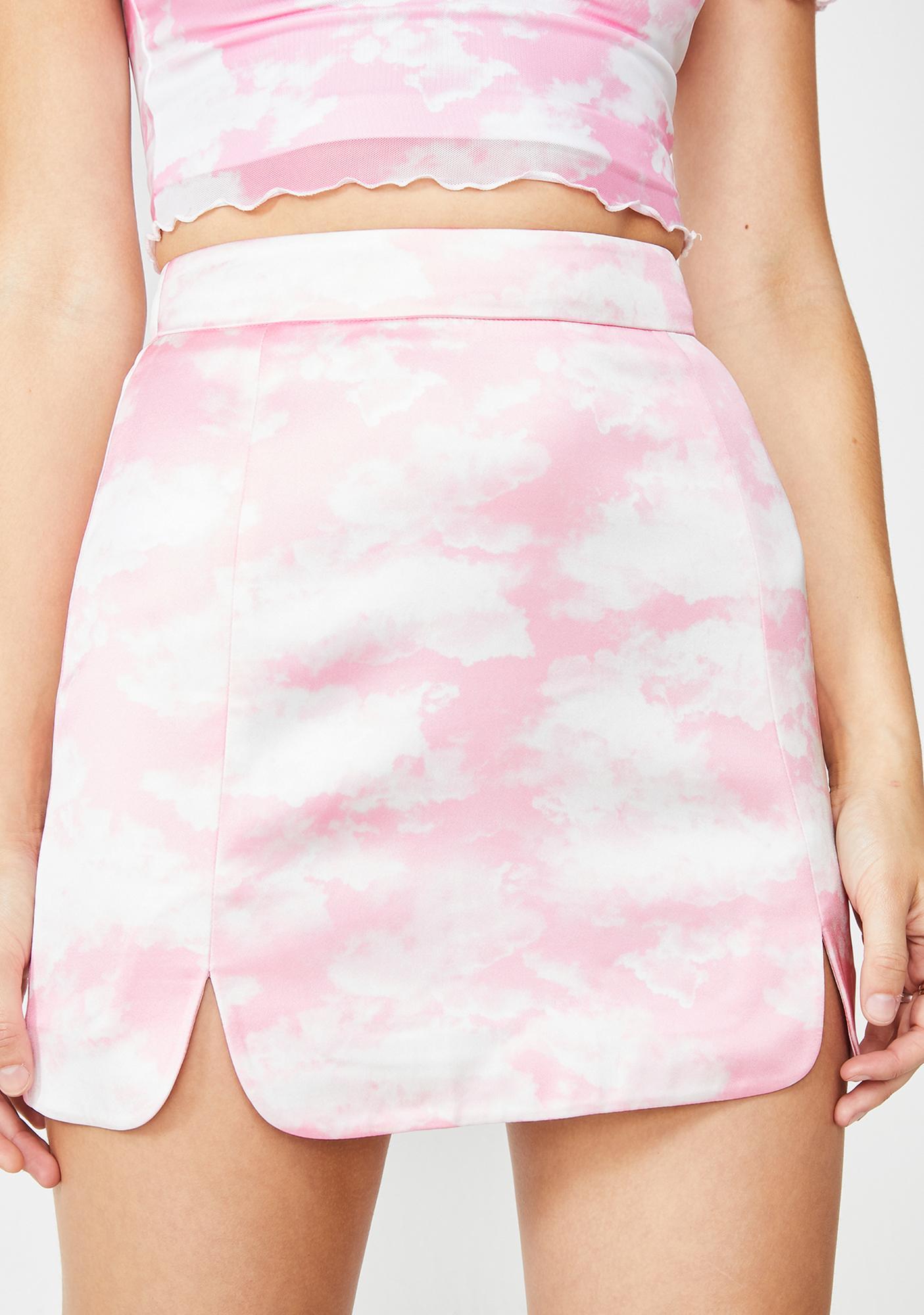 870571725b Sugar Thrillz Bliss Vision Satin Skirt | Dolls Kill