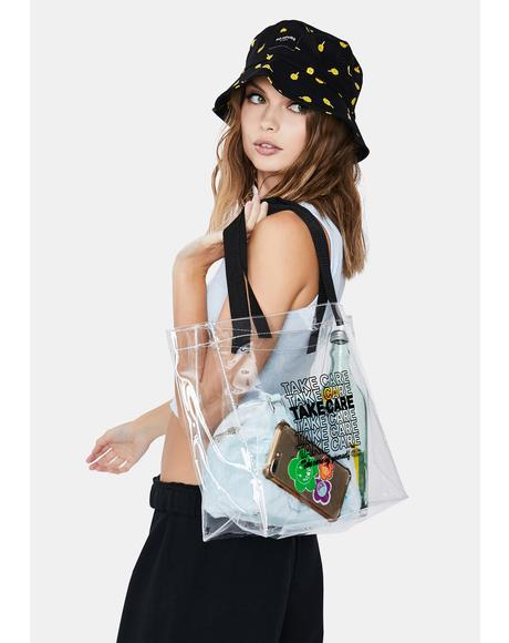 Take Care Clear Tote Bag