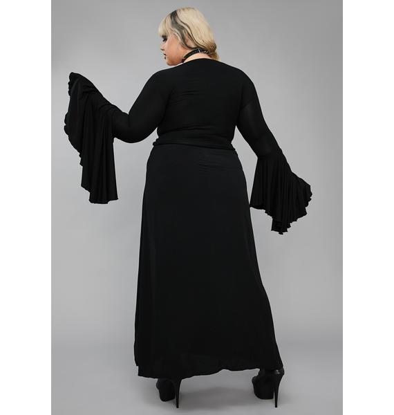 Widow Well Happy Haunting Maxi Skirt