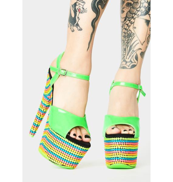 Pleaser Dank Fairy Freaky UV Platform Heels