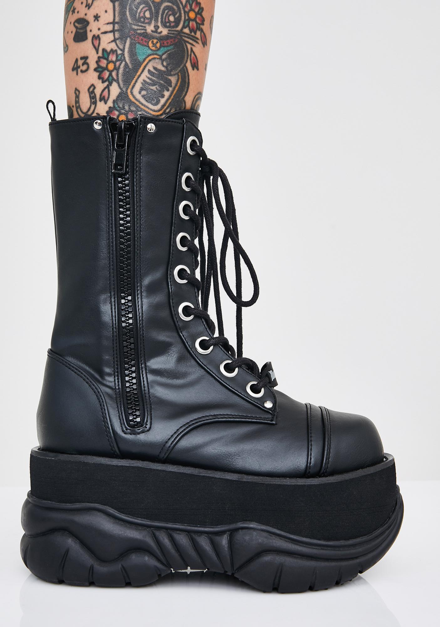 Demonia Cyber Void Platform Boots