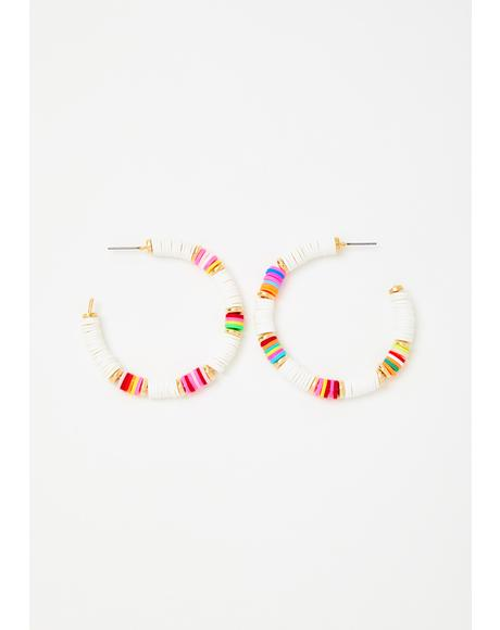 Tropical Breeze Hoop Earrings