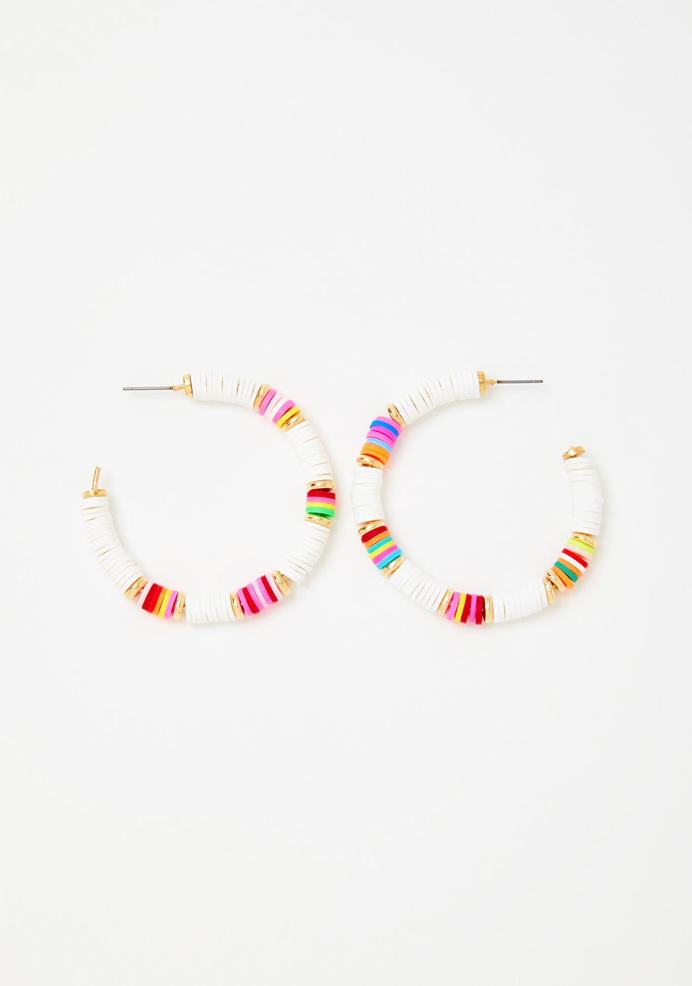Tropical Breeze Hoop Earrings