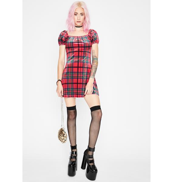 Current Mood Past Lovers Plaid Dress
