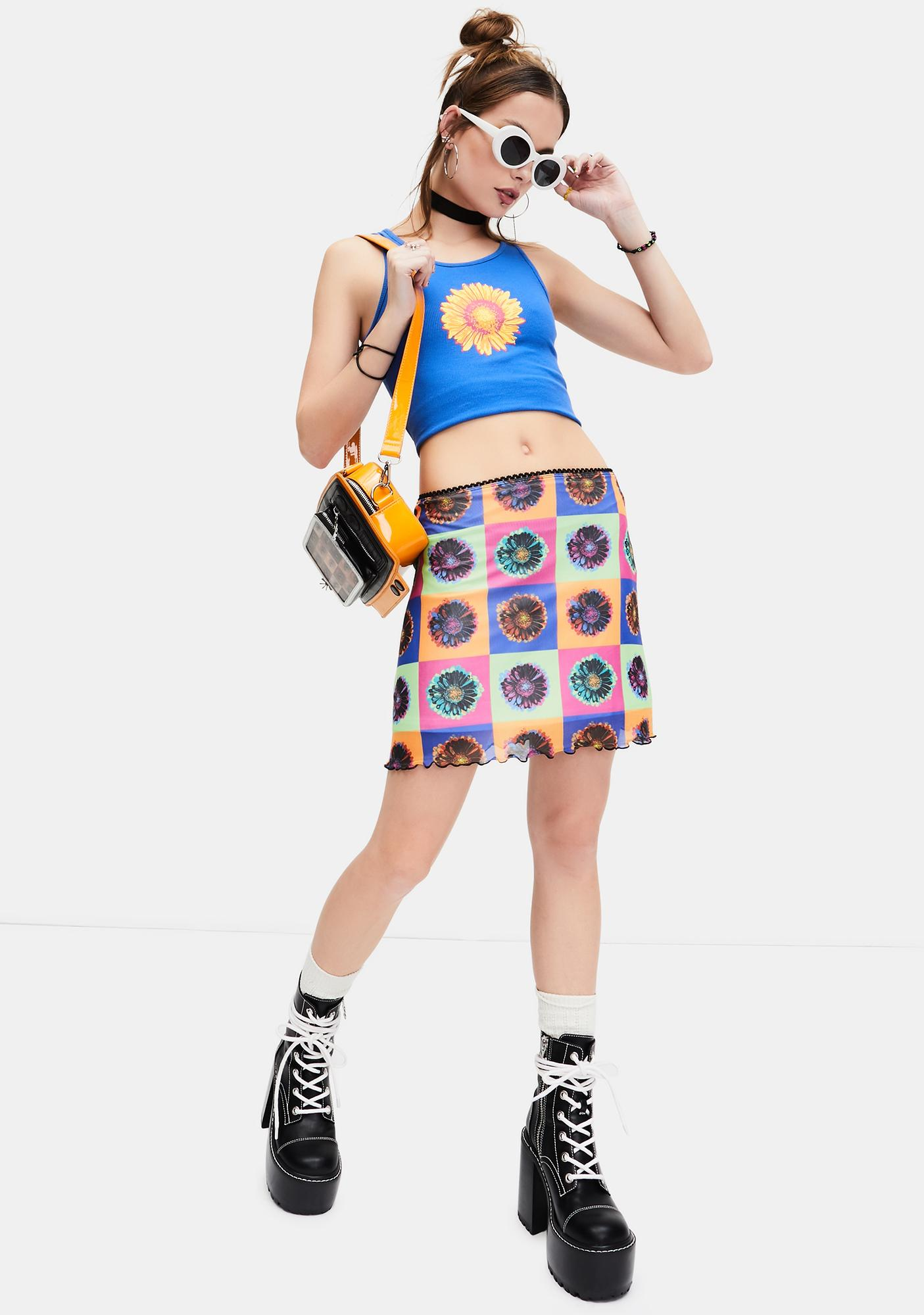 dELiA*s by Dolls Kill Sun's Coming Up Ribbed Graphic Tank