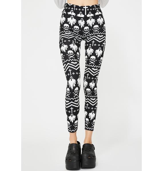 Too Fast I'm With Creepy Christmas Sweater Leggings