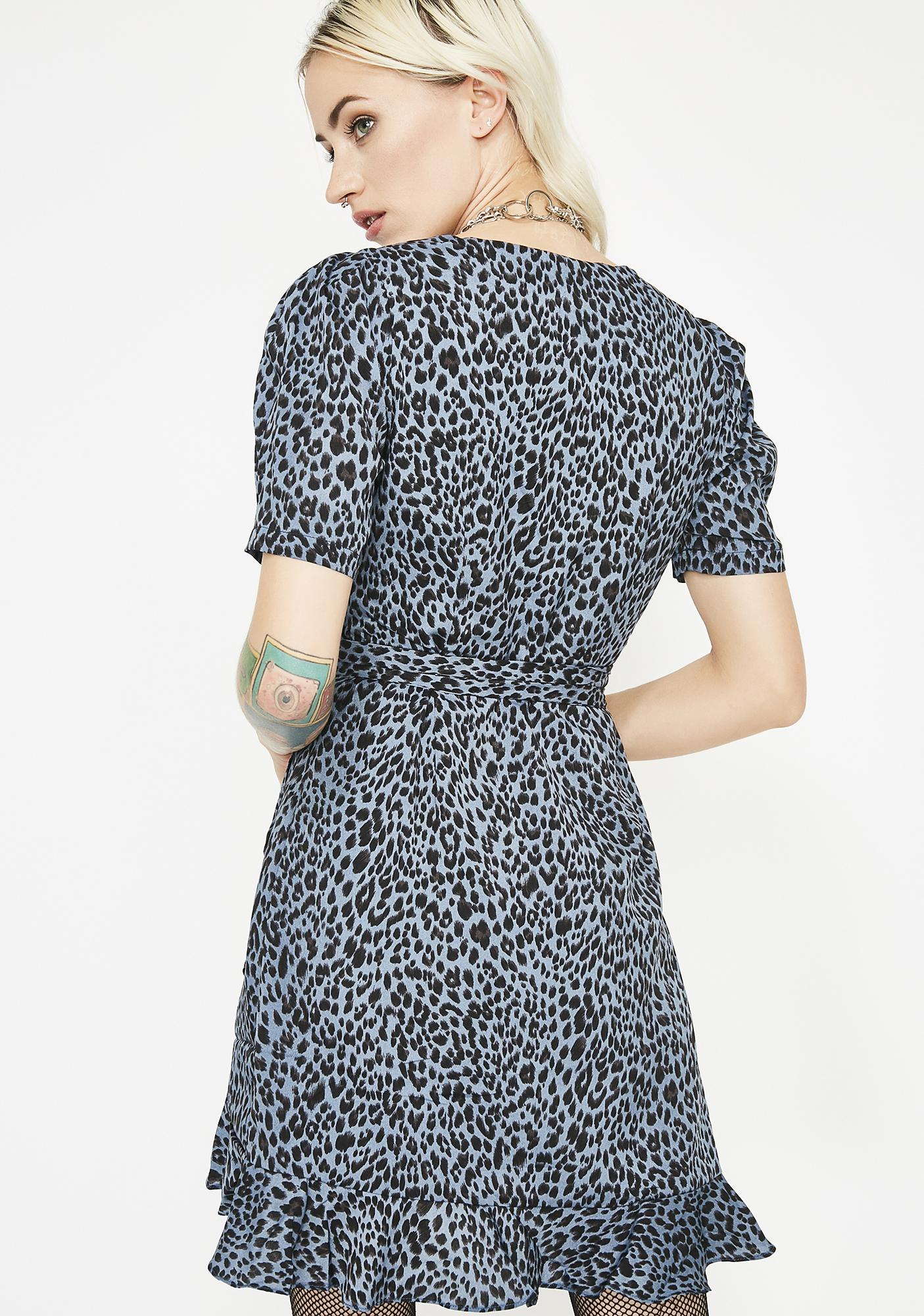 Sky Cheetah Cheata Mini Dress