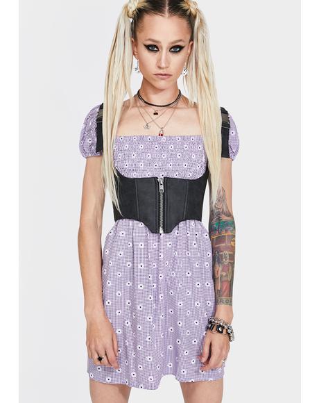 Lavender Daisy Field Eldre Dress