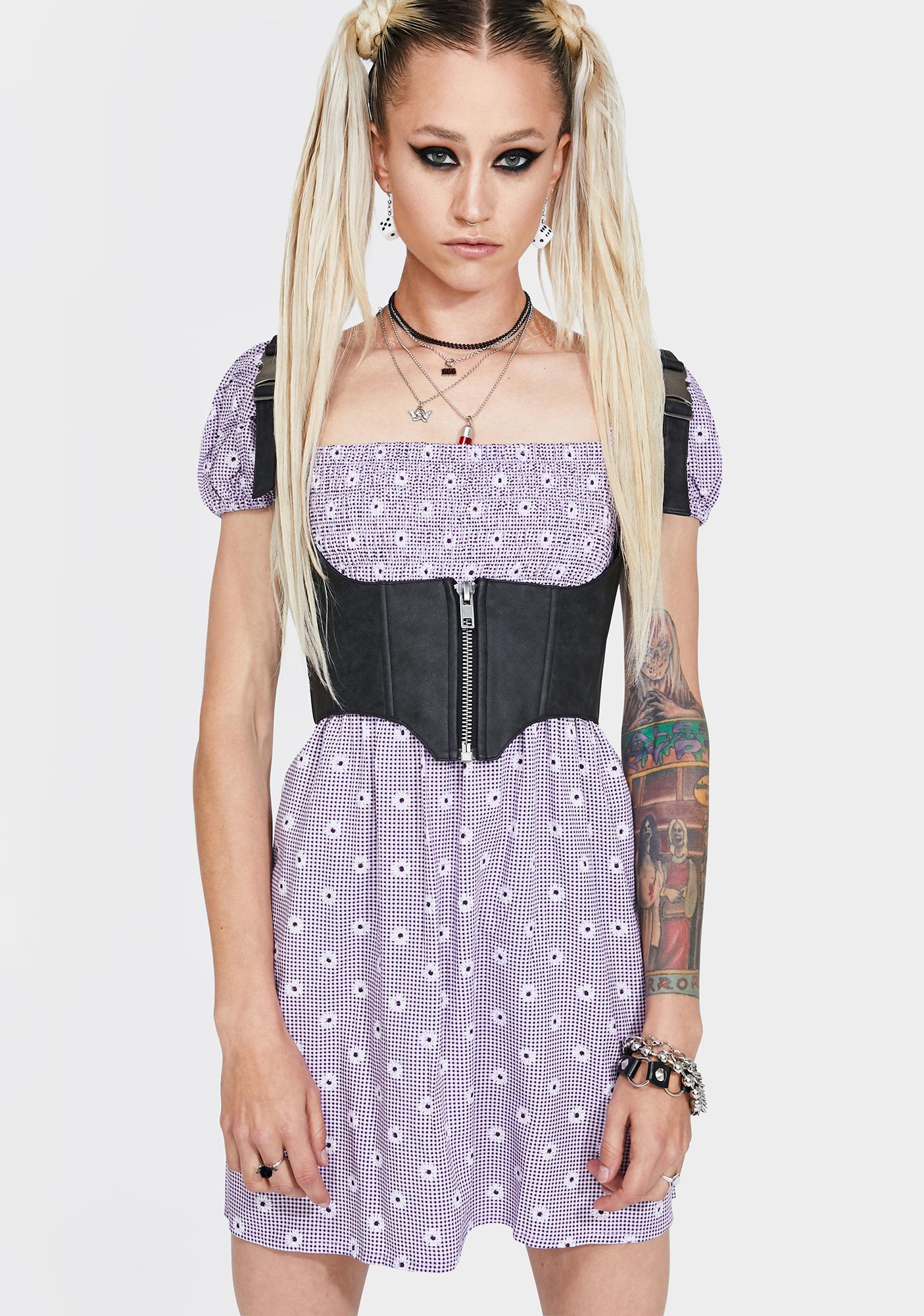Motel Lavender Daisy Field Eldre Dress