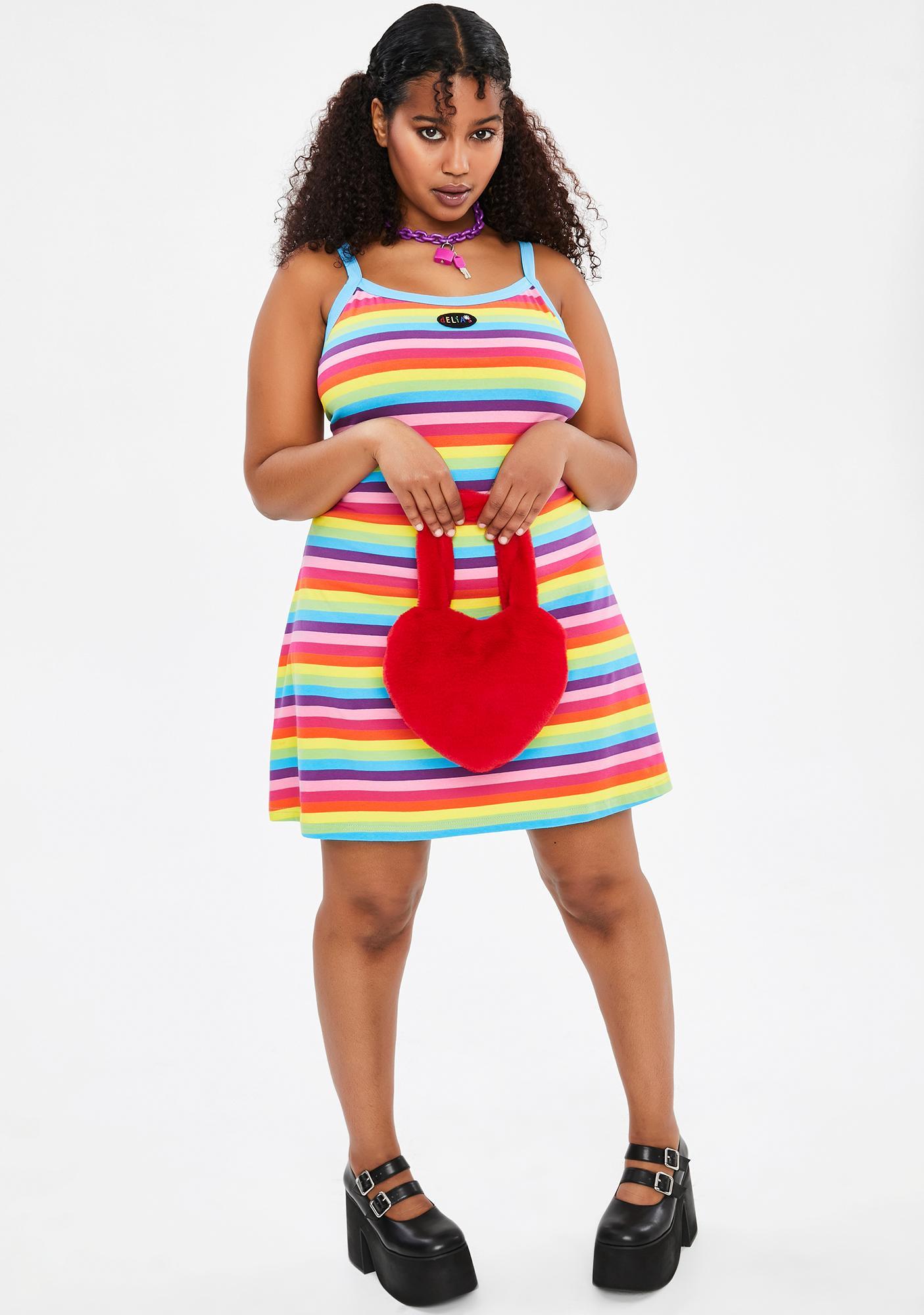 dELiA*s by Dolls Kill Love Dare To Dream Striped Dress