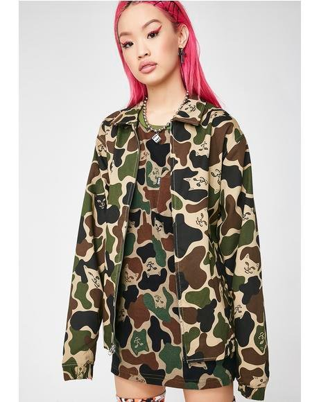 Nermal Camo Coach Jacket