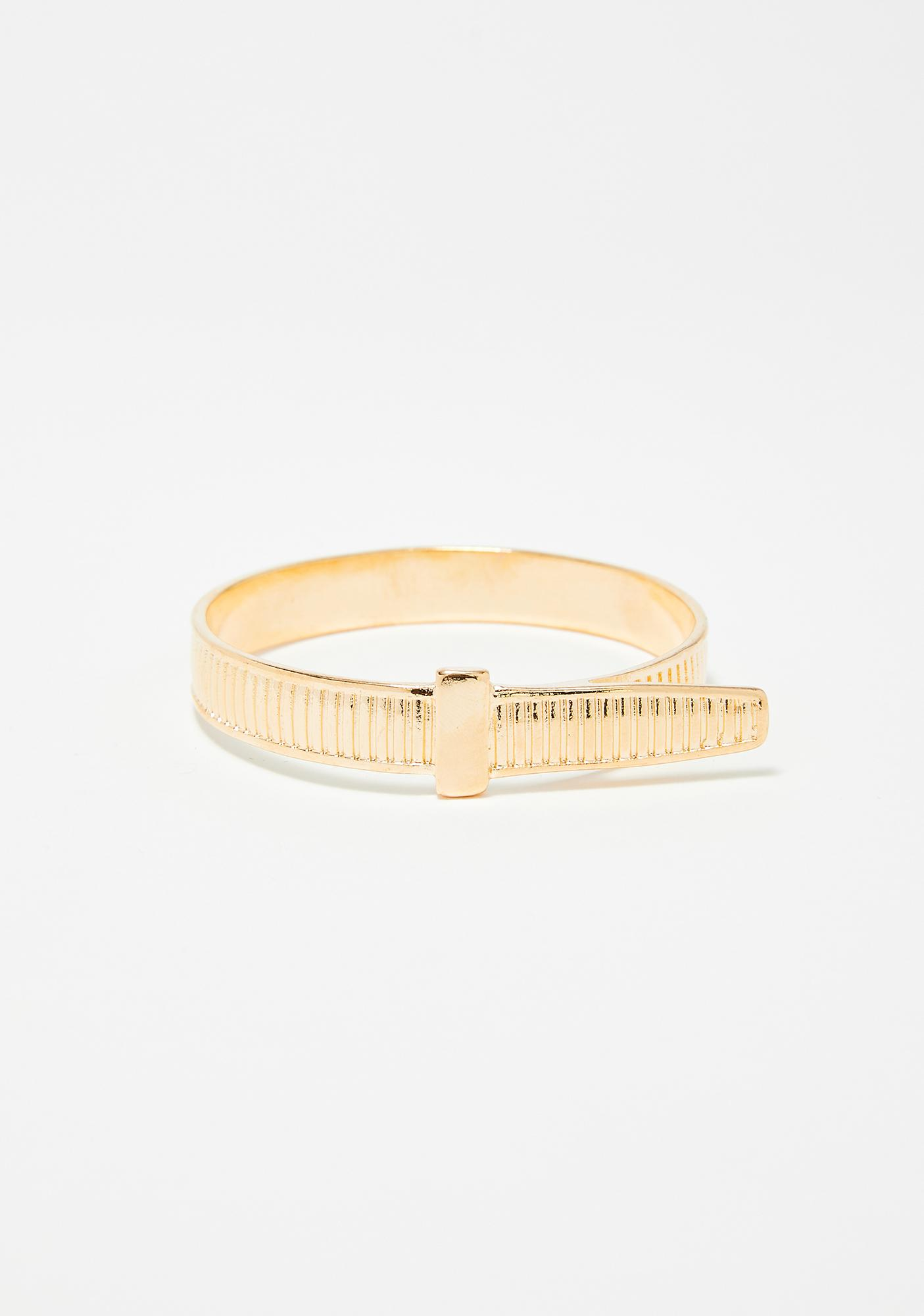 Stackin' It Up Gold Bracelet