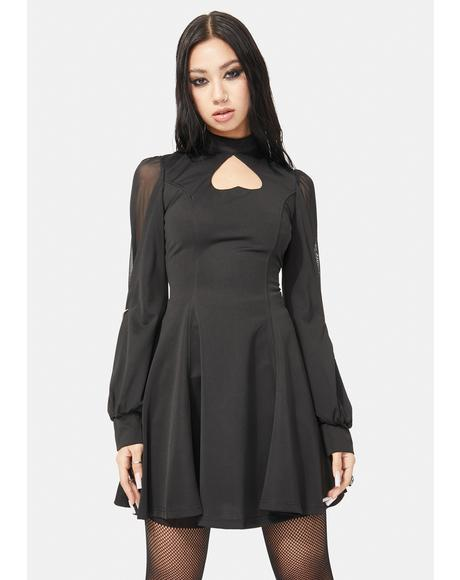 Transparent Sleeve Mini Dress