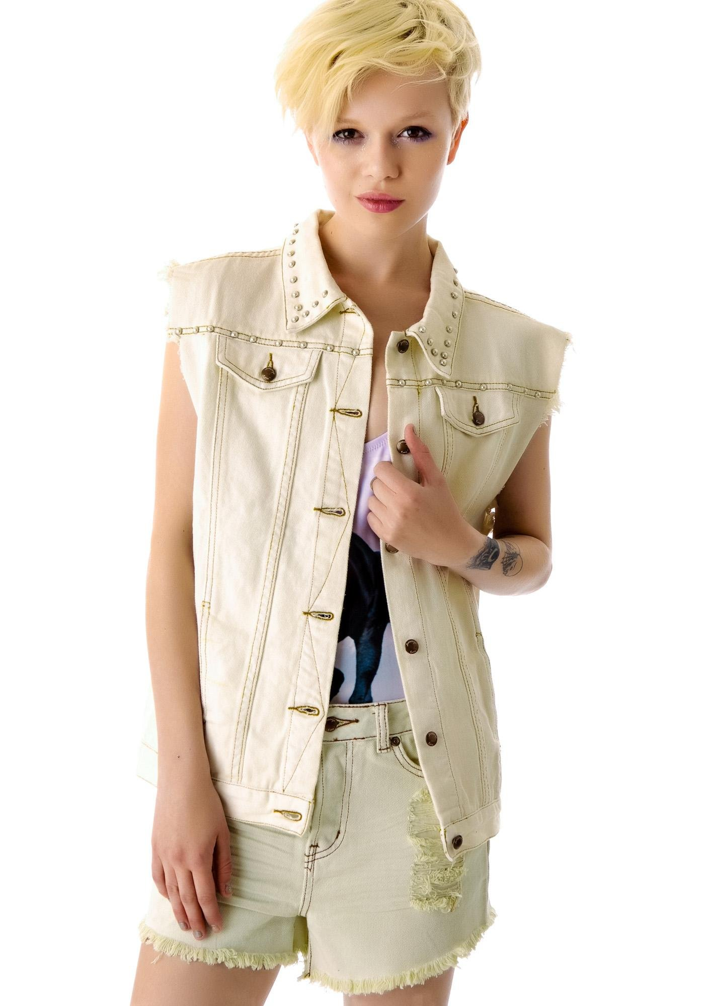 Somedays Lovin Magic Maine Embellished Denim Vest