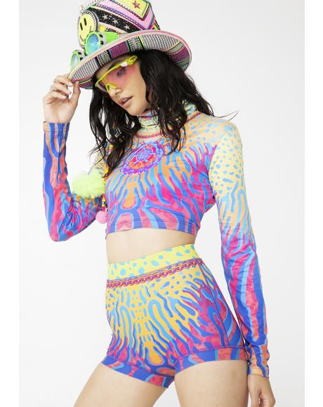 Cryptic Frequency Hot Pants