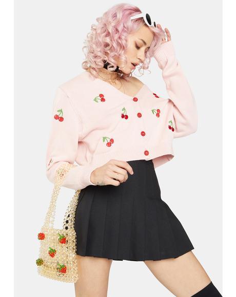 Cherry Girl Crop Cardigan