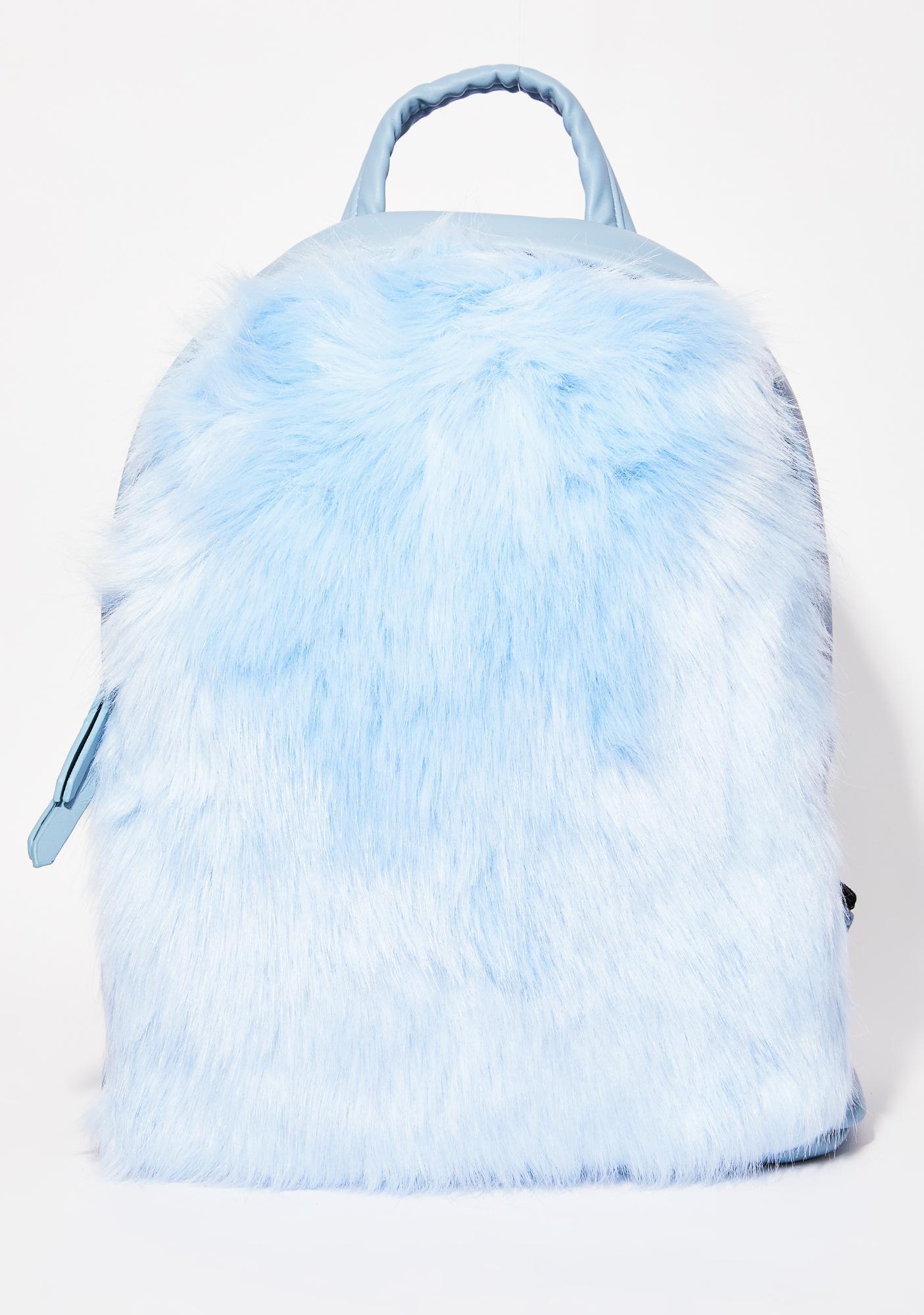 Skinnydip Frosty Faux Fur Backpack