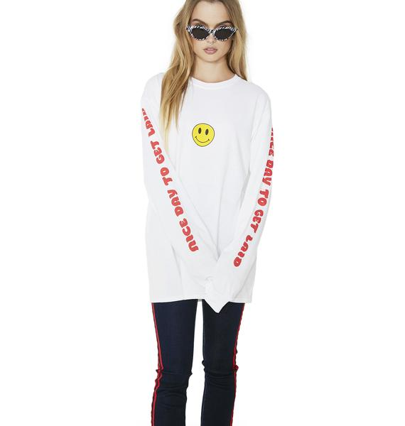 Burger And Friends Nice Day To Get Laid Long Sleeve Shirt