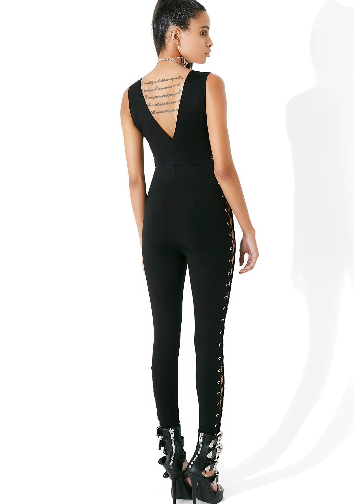 All Or Nothing Lace-Up Bodysuit