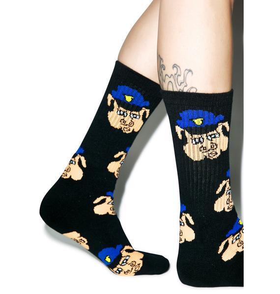 40s & Shorties Pig Cop Socks
