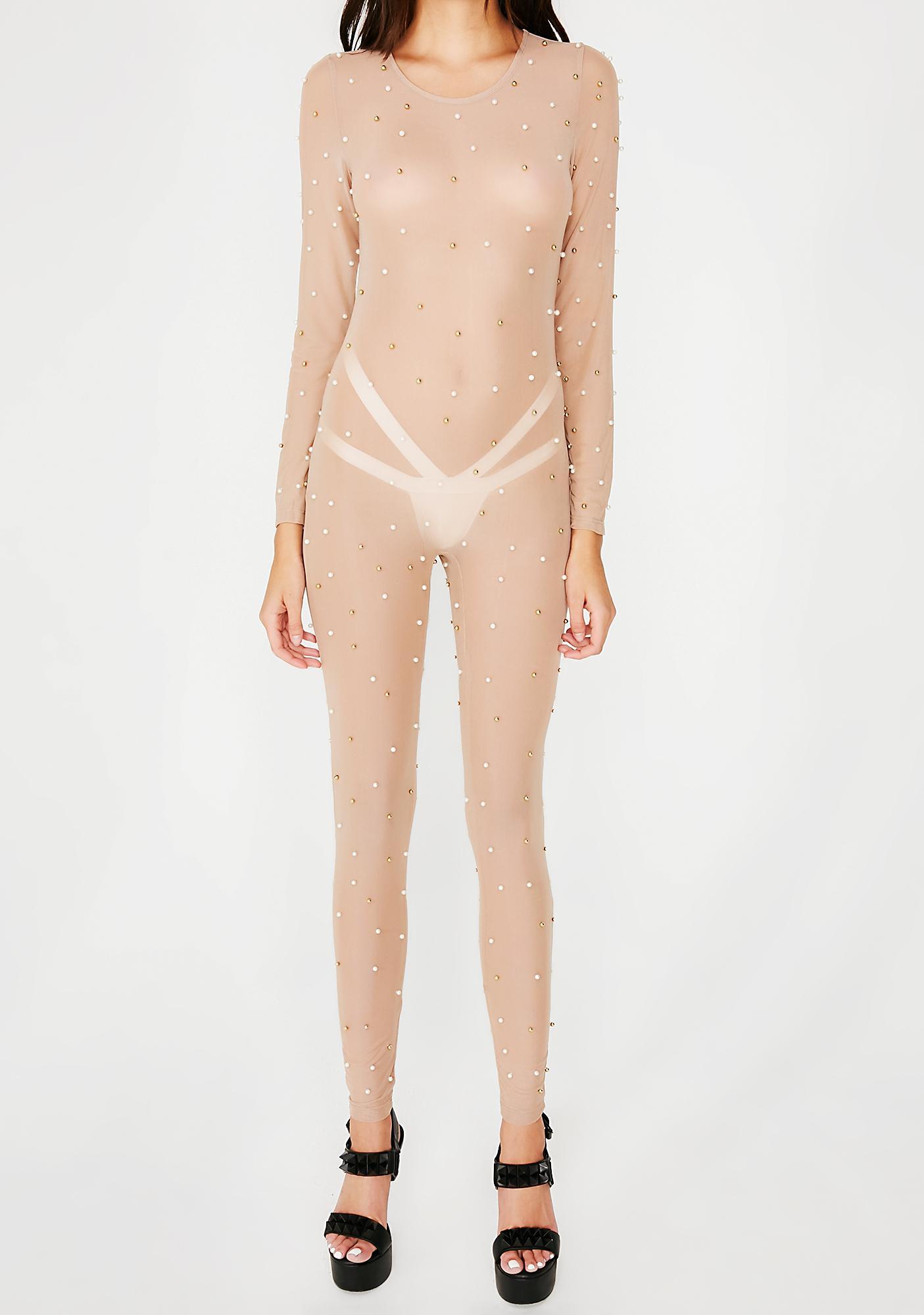 Birthday Suit Sheer Catsuit