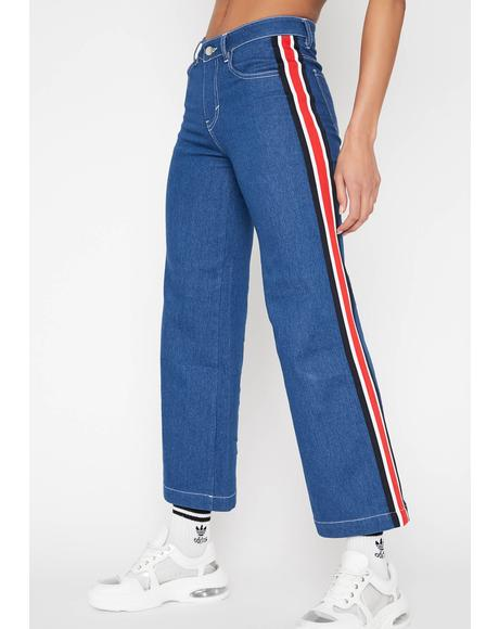 Major League Wide Leg Jeans