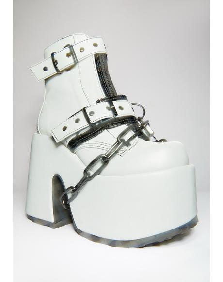 Glow In The Dark Ruin My Life Platform Ankle Boots