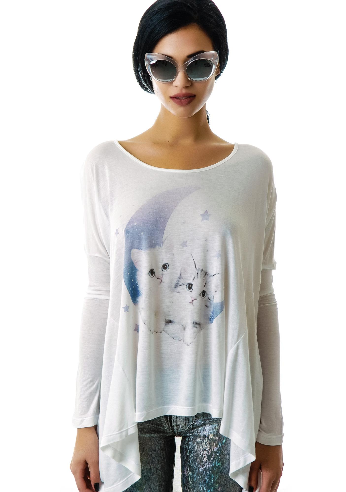 United Couture Midnight Meow Long Sleeve Tee