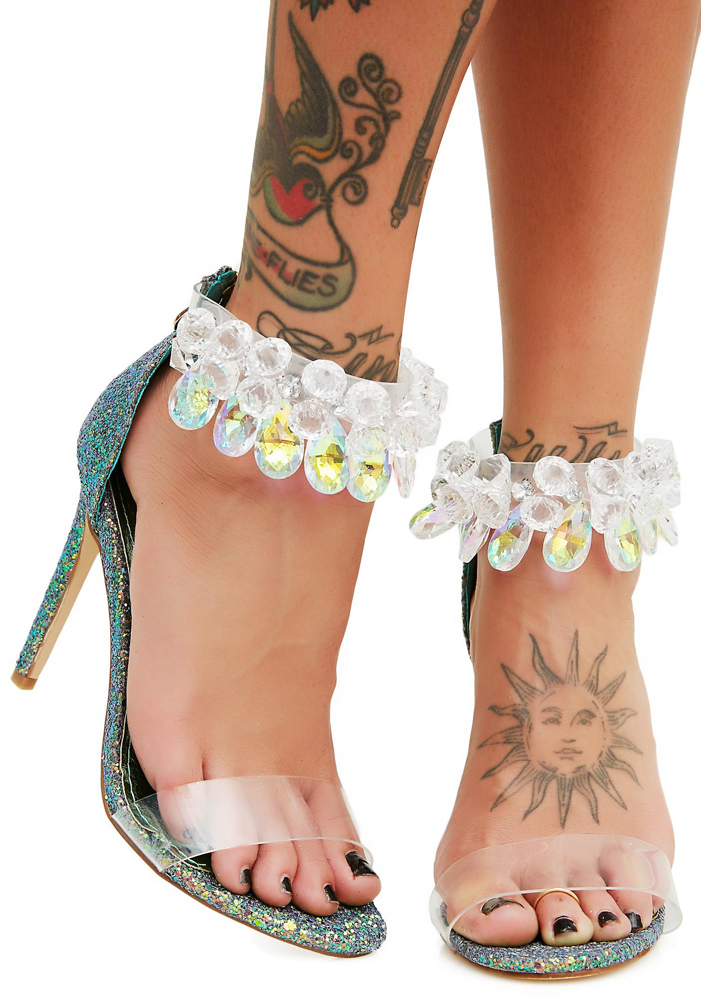 Island Breeze Embellished Heels