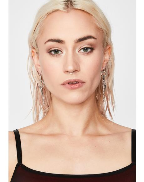 Learn Ur Lesson Chain Earrings