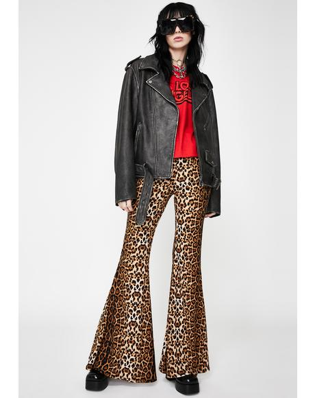 Feline Flair Bell Bottoms