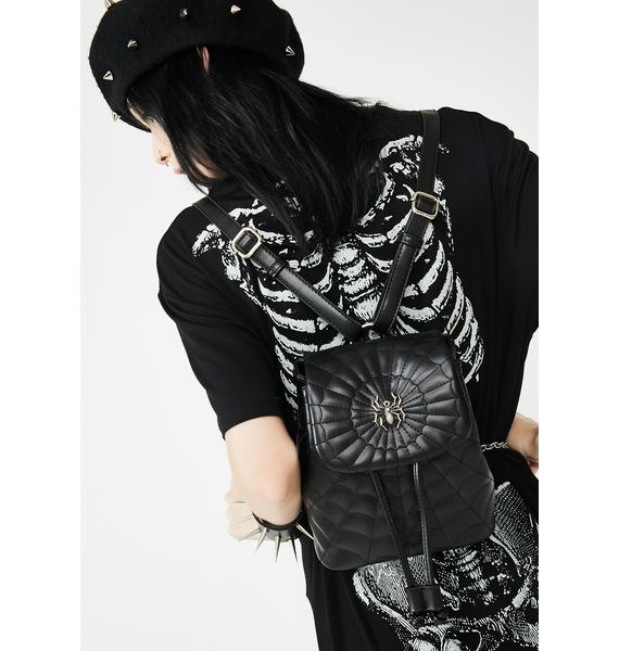 Dolls Kill Creep It Real Spider Backpack