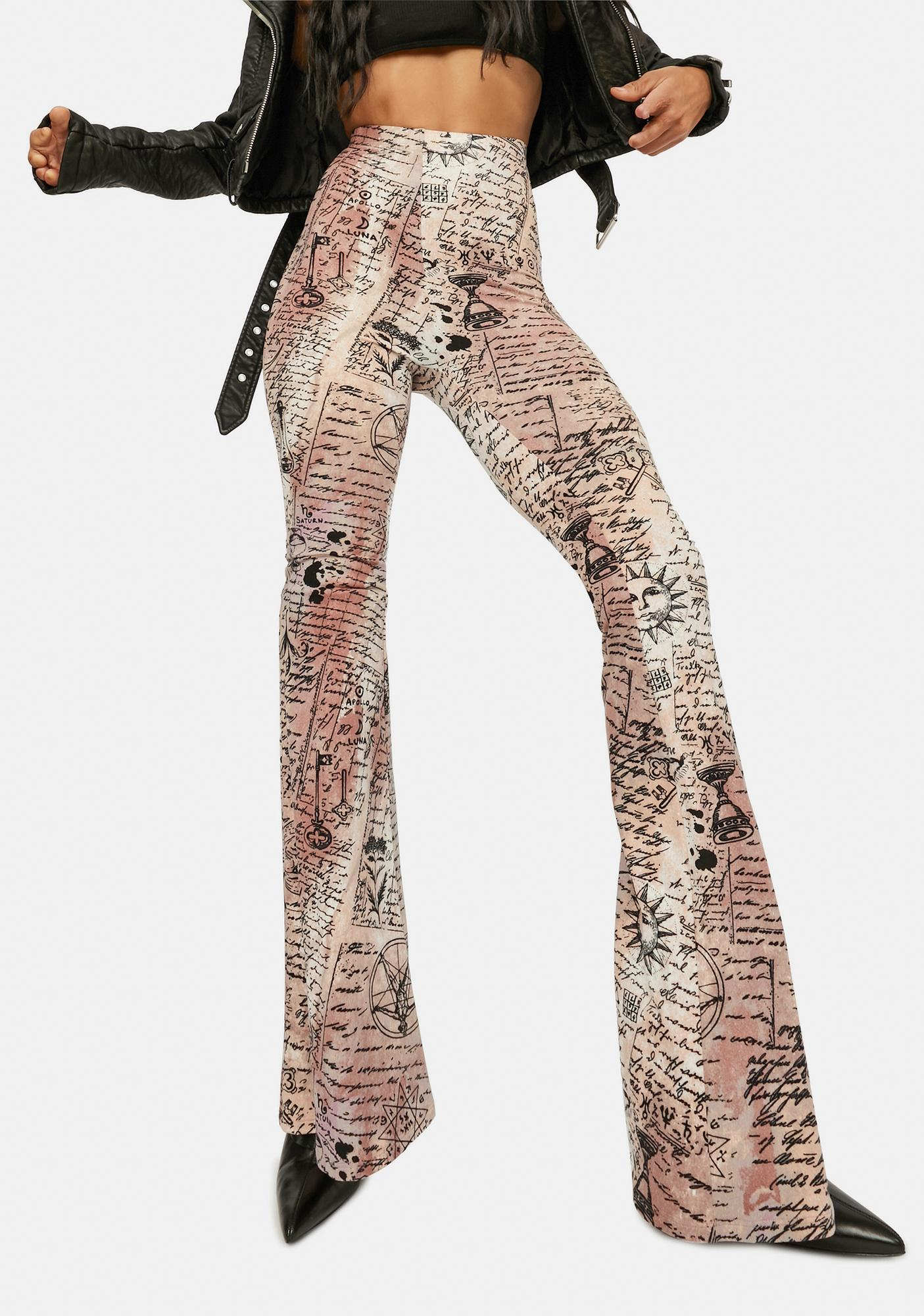 Magic Mix Alchemy Print Flare Pants