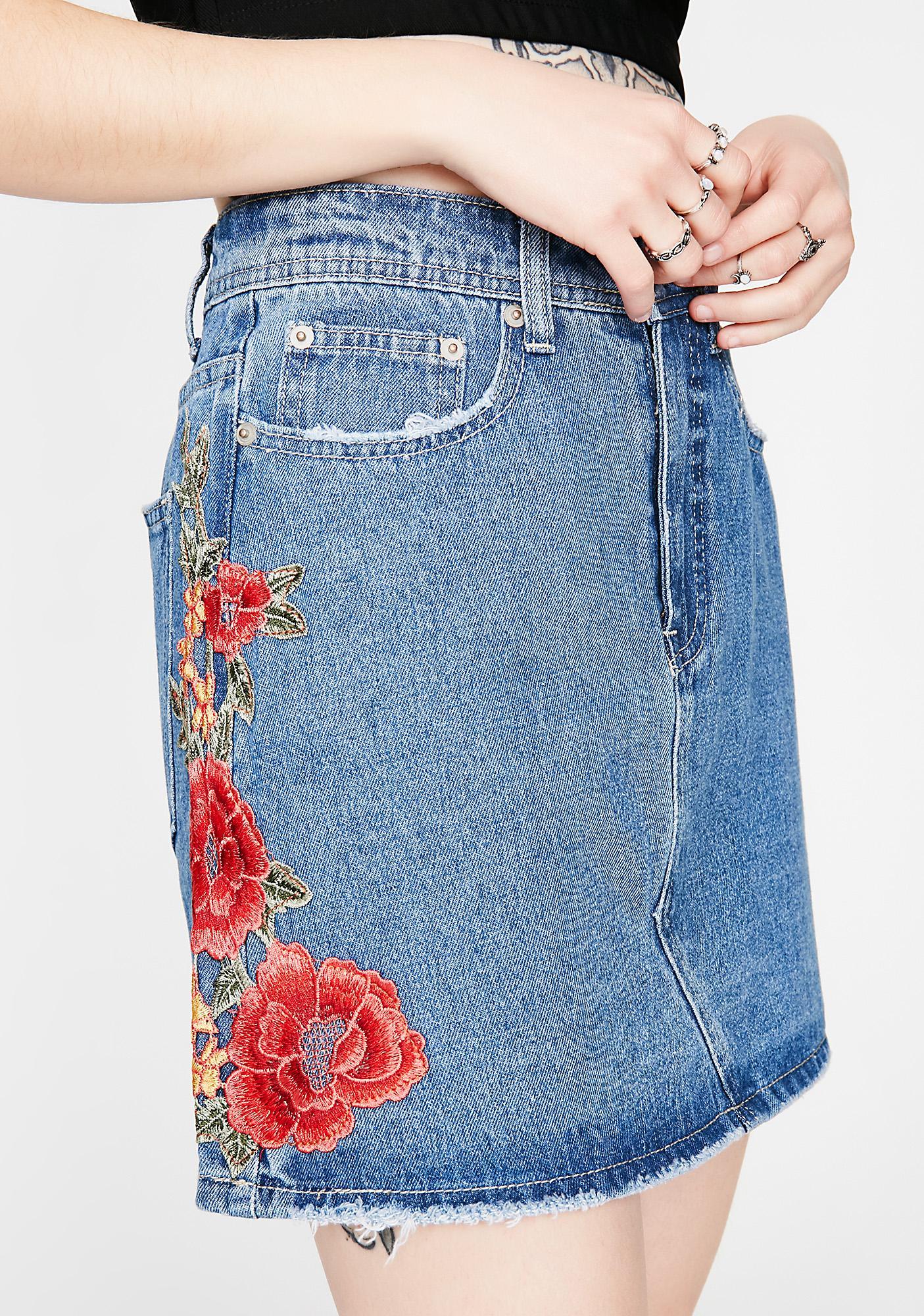 Bloom Room Denim Skirt
