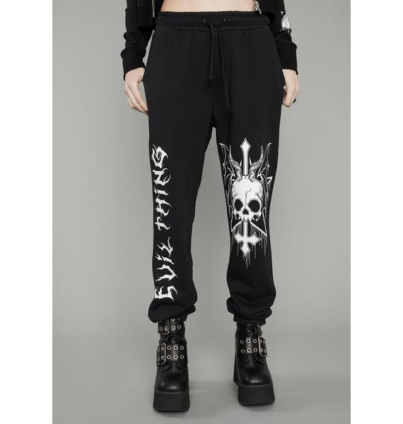 Dolls Kill Take No Prisoners Graphic Sweatpants