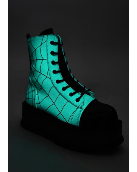 Glow In The Dark Deadly Prey Platform Boots