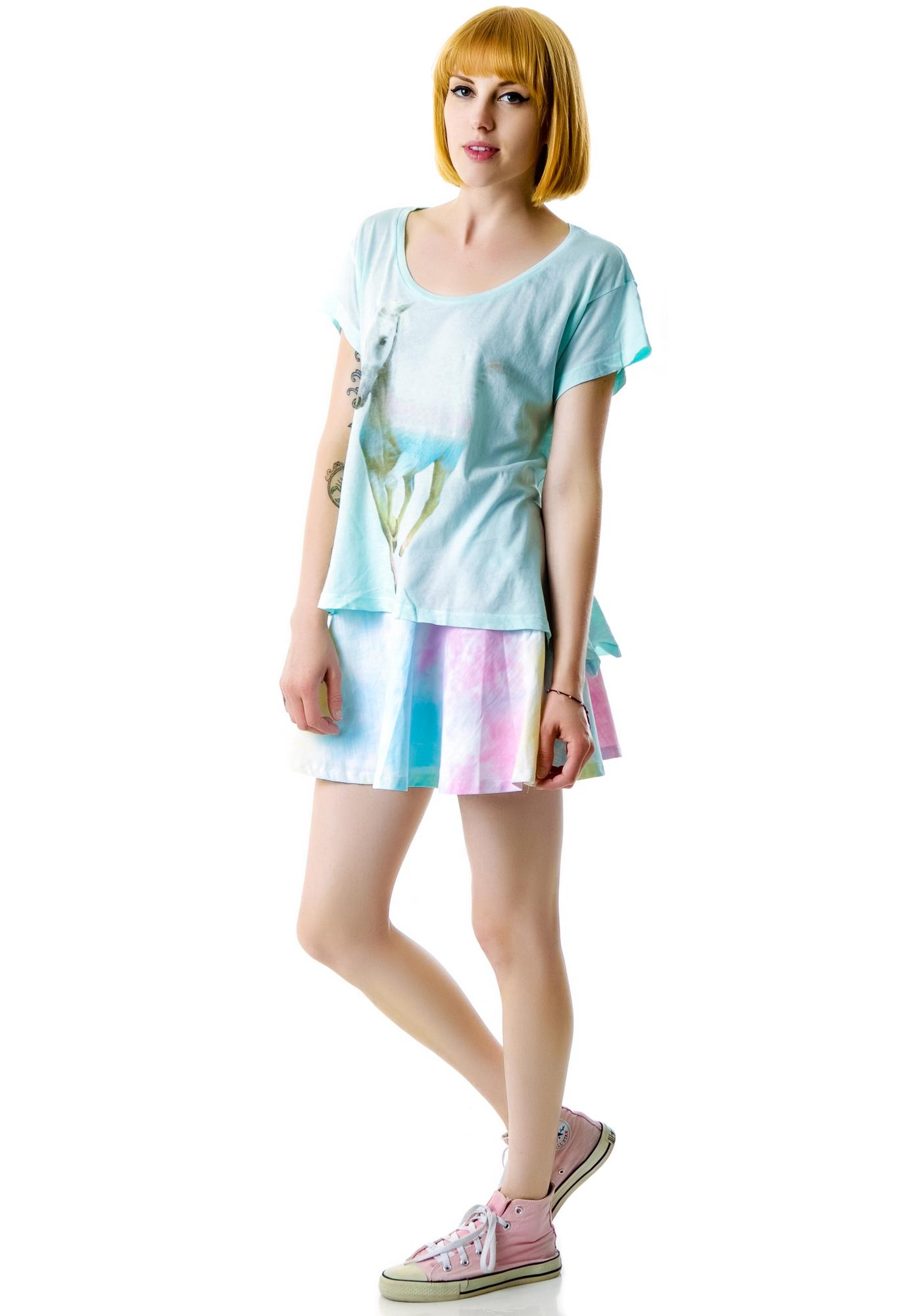 Wildfox Couture Rainbow Pony Lazy Weekend T