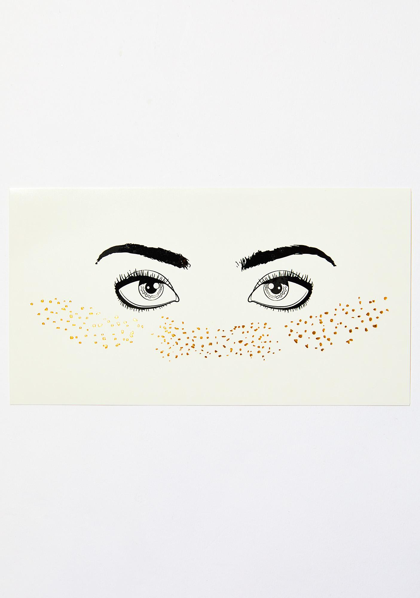 Love And Madness Gold Glitter Freckles