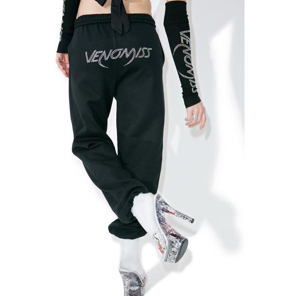 Venomiss NYC Crystal Logo Sweatpants