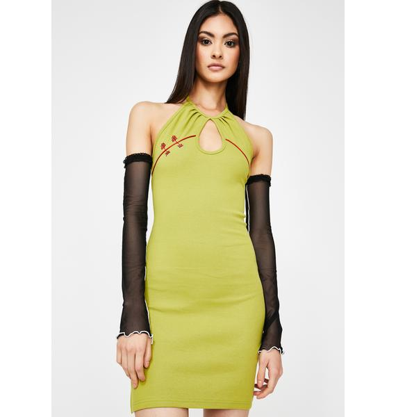 GANGYOUNG Green V Dress