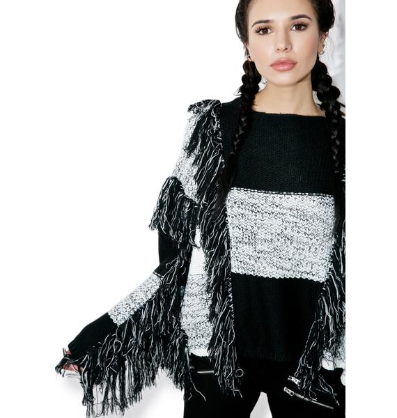 Borderline Fringed Sweater