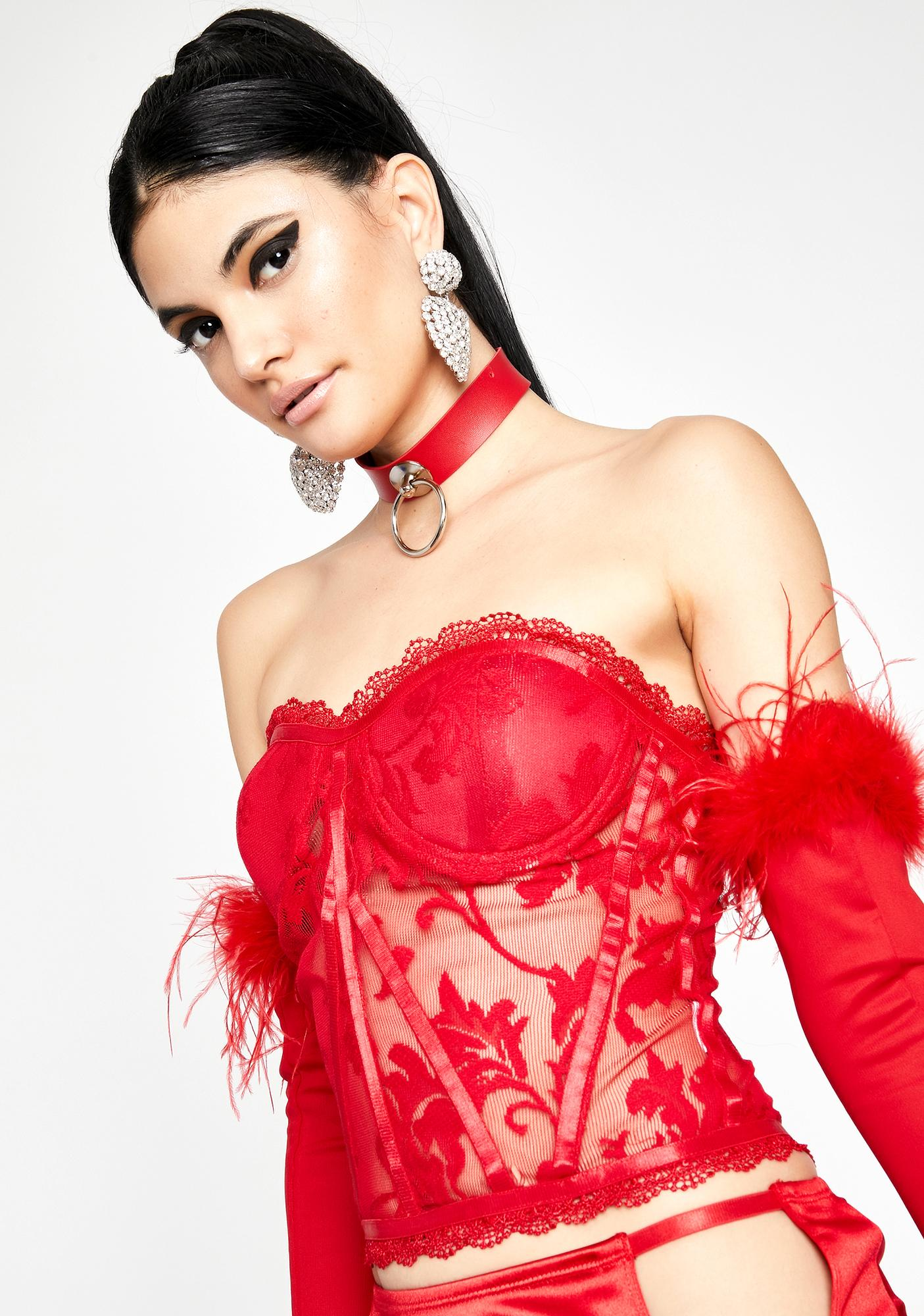 Fire Love Like This Lace Bustier
