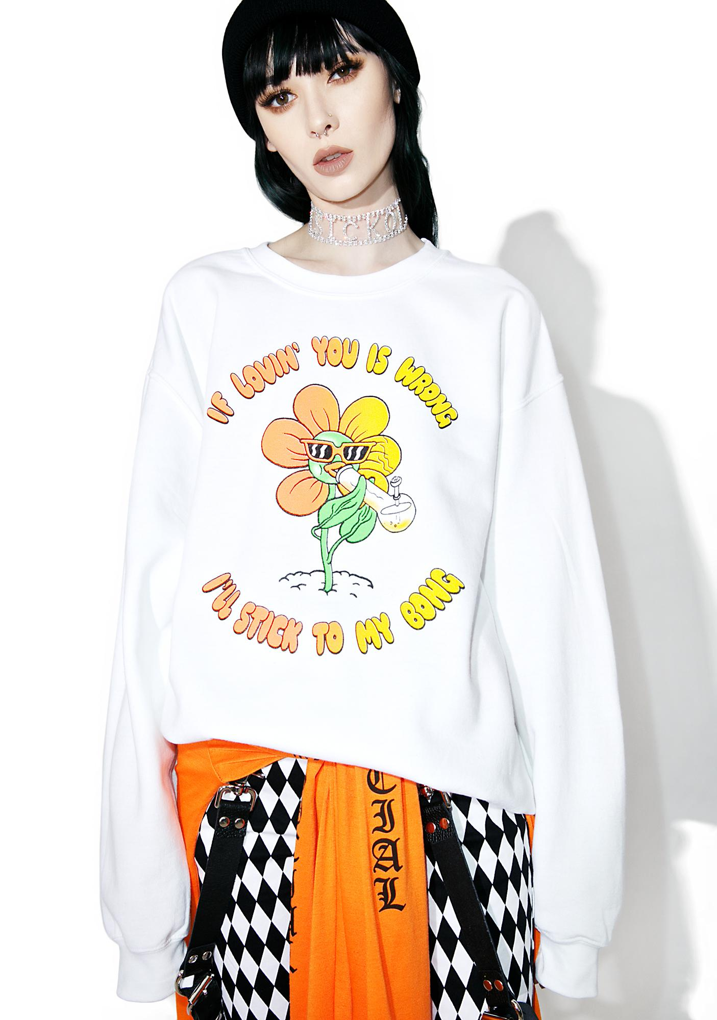 Burger And Friends My Bong Sweatshirt | Dolls Kill